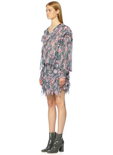 Çiçek Desenli Gömlek-Etoile Isabel Marant